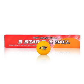 DHS ITTF Approved 3-Star 40mm Table Tennis Balls, Ping Pong Balls, Pack of 6 Balls (White / Orange)