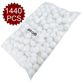GOGO 10 Bags (10 X 144 balls) 3 Star 40mm Blank Table Tennis Balls, Ping Pong Balls, Price for 10 Gross, Excellent For Custom Printing, Price/10 Bag