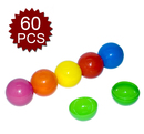 GOGO Plastic Lottery Ball, Lucky Dip Gaming Balls, Toy Balls, 60 PCS Bright Colors