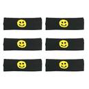 Alice Funny Smile Face Headband, Sports Headband Hair Band 6 PCS