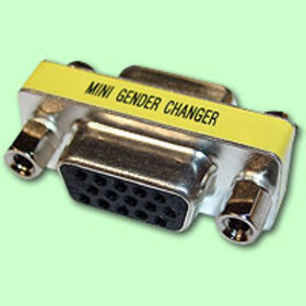 CablesToBuy HD15 VGA F/F Mini Gender Changer
