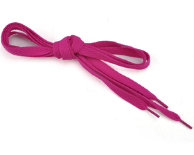 TopTie 100 Pairs Flat Shoelaces, PLUM, Breast Cancer Awareness Color
