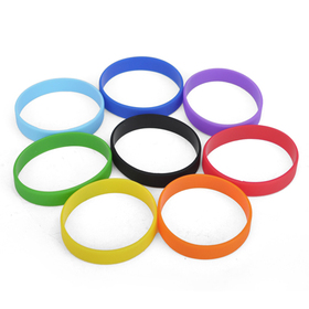 GOGO 180mm Blank Silicone Wristbands, Full of Fun Bracelets For Kids
