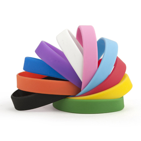GOGO Silicone Wristbands, Mixed Rubber Bracelets For Adults, Colors May Vary, Party Favors, Price/Dozen