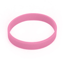 GOGO Dozen Pink Silicone Wristbands For Breast Cancer Awareness Pink Ribbon Bracelets