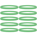 GOGO 100 Pcs Glow In The Dark Silicone Bracelets, Noctilucous Thin Rubber Wristbands