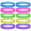 GOGO Glow-in-the-dark Silicone Wristbands, Rubber Bracelets, Party Favors