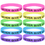 GOGO Never Give Up Silicone Wristbands, Glow-in-the-dark Rubber Bracelets