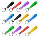 GOGO Dozen Silicone Keychain, Wristband Keyring, Rubber Key Chain