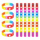 GOGO 10 Pcs Kids' Rubber Bracelet, Adjustable Wristband for Fit Shoe Jibbitz Crocs Charms