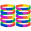 GOGO Rainbow Pride Silicone Wristbands Wholesale Adult Rubber Bracelets Party Favors 10 Pcs / Pack