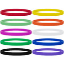 GOGO 100 Pcs/ Pack Silicone Wristband Sport Rubber Bracelet