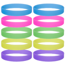 GOGO 10 PCS / Pack Glow-in-the-Dark Wristband Rubber Bracelet