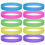 GOGO Wholesale Glow-in-the-Dark Silicone Wristbands Party Favor Adult Rubber Bracelets 10 PCS / Pack