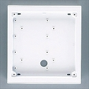 Alpha Communications 2H X 2W Surface Back Box-White