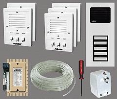 Alpha Communications 5- Unit Apt. Intercom Kit+Wire