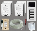 Alpha Communications 6- Unit Apt. Intercom Kit+Wire