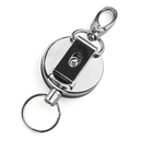 GOGO Heavy-duty Steel Wire Retractable Reel Belt Clip Loop Clasp Key Ring Individual