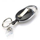 GOGO 500PCS Carabiner Badge Holder Reels With Back Splint Key Ring