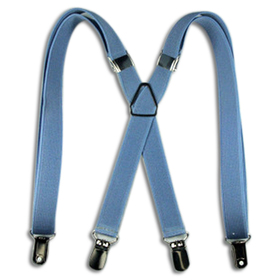 "TopTie 27"" Adorable Child Size X-Back Suspenders - Lightblue"