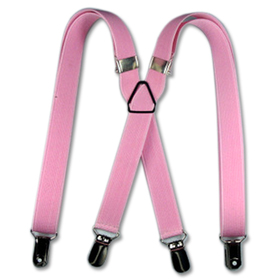 "TopTie 27"" Adorable Child Size X-Back Suspenders - Pink"