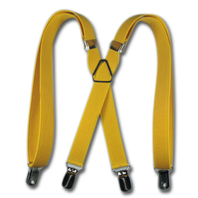 "TopTie 27"" Adorable Child Size X-Back Suspenders - Yellow"