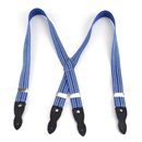 TopTie Kid's Suspenders Blue Yellow Striped Button-End Elastic Suspender