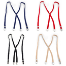 TopTie 4pc Adjustable Clip Suspender For Men & Women