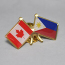 Stock Canada & Philippines Friendship Flag Lapel Pins, 1.25""