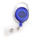 Officeship 10PCS Blue Carabiner Retracting ID Card Reels
