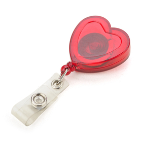 Love Heart Shape Lovely ID Badge Reel 10 PCS