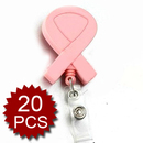 Officeship Breast Cancer Awareness Name Badge Reel Pink, 20PCS/PACKED