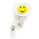 Officeship White Retractable Smile Face Key-ID-Badge 50 PCS