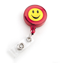 Officeship Retractable Red Smile Face Badge Reels, Bulk Sale Price For 50 PCS
