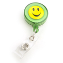 Officeship Green Smile Face ID Card Reel 50 PCS, Ideal For Holding A Key, ID Badge Holder, Proximity Card