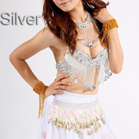 BellyLady Belly Dance Coin Halter Bra-Top