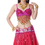 BellyLady Sparkling Belly Dance Tribal Bra Top, With 6 Sequined Flower