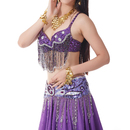 BellyLady Belly Dance Bra-Top With Sequins And Diamond