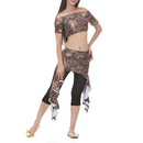 BellyLady Belly Dance Tribal Short Sleeved Leopard Print Top