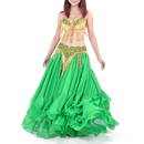 BellyLady Professional Belly Dancinig Costume, Sequined Bra Top And Belt Set