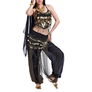 BellyLady Egyptian Belly Dance Costume, Halter Top, Hip scarf and Harem Pants