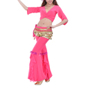 BellyLady Practice Pants For Belly Dancer, With Ruffle Design