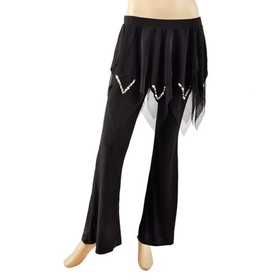 BellyLady Tribal Belly Dance Comfortable Pants, Bead Embroidery