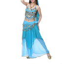 BellyLady Women Chiffon Maxi Skirt With Gold Hem, Belly Dancing Skirt