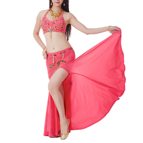 BellyLady Belly Dance Tribal Slitted Skirt, Egypt Stytle