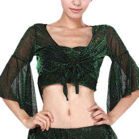 BellyLady Belly Dance Belly Dance Spark Wrap Top