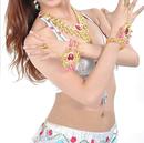 BellyLady Belly Dance Jewelry Set - Tribal Necklace & Bracelets