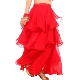 BellyLady Womens Belly Dance Skirt Chiffon Hemming Long Skirt