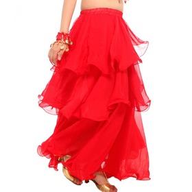 BellyLady Womens Belly Dance Skirt Chiffon Hemming Long Skirt