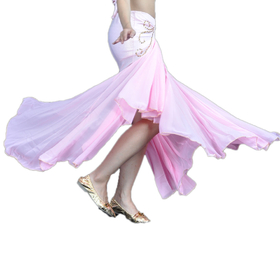 BellyLady Belly Dance Glossy Chiffon Mermaid Skirt